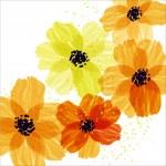 Yellow flowers — Stock Vector #30746783