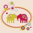 Cute elephants  — Stock Vector