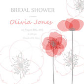 Bridal shower or wedding invitation or card — Stock Vector