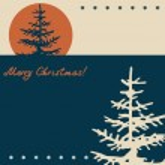 クリスマスと新年のレトロな背景 — ストックベクタ