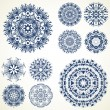 Set of ten mandalas — Stock Vector