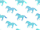 Paard naadloze patroon. — Stockvector