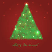 Christmas tree from light — Stock Vector