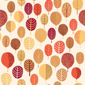Seamless leaf pattern — Stock Vector