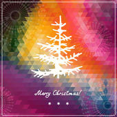 Christmas and New Year retro background — Stock Vector