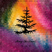 Noël et nouvel an fond rétro — Vecteur