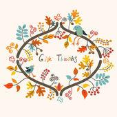 Fröhliches thanksgiving — Stockvektor