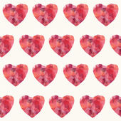 Mosaic hearts seamless — Vector de stock