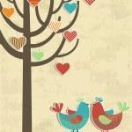 Love birds card — Stock Vector #39442123