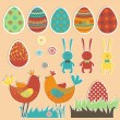 Easter set. — Stock Vector