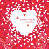 Rood hart en bloemen. — Stockvector