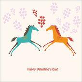 Carini cavalli in amore — Vecteur
