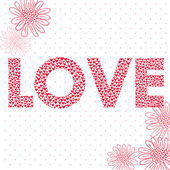 Love made from hearts — Stock Vector