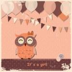 Retro happy birthday card — Stock Vector #40553909