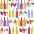 Stock Vector: Bottles and glasses