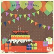 Retro happy birthday card — Stock Vector #40553957