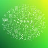 Tło wiosna zbiory. — Wektor stockowy