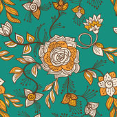 Floral transparente — Vector de stock