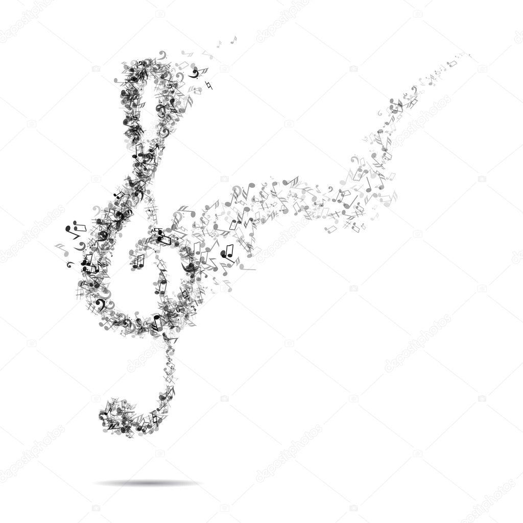 Ключ скрипичный фон