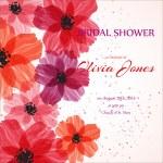 Bridal shower or wedding invitation or card — Stock Vector