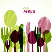 Placa decorativa menu. — Vetor de Stock