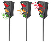Voetgangers verkeerslichten — Stockfoto