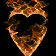 Burning heart - Stock Photo