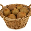 Basket with kiwis — Stock Photo