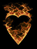 Burning heart — Stock Photo