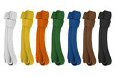 Colored belts — Stock Photo