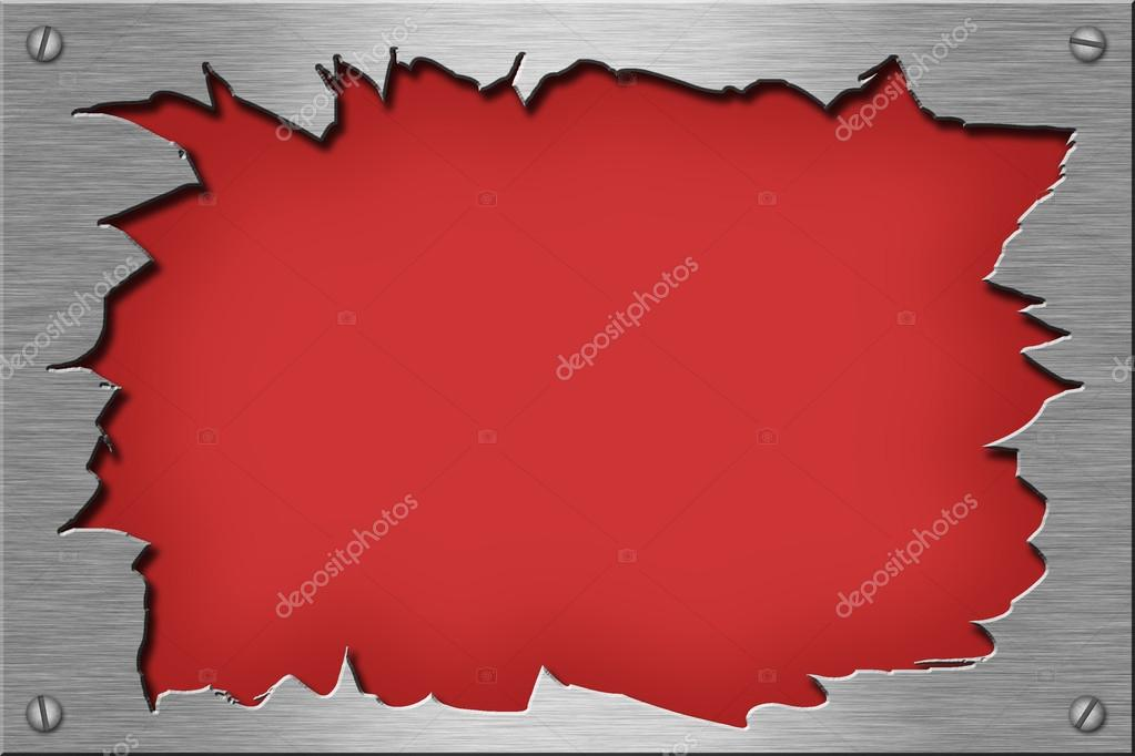 Ripped metal plate.  Stock Photo #14311149