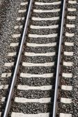 Single railway track — Stock Photo