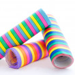 Stock Photo: Three paper streamer