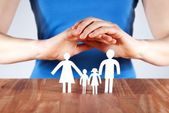 Protecting a family — Stock Photo