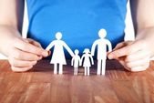 Holding a family — Stock Photo