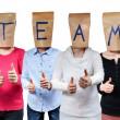 Symbolizing team — Stock Photo