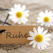 Natural looking label with RUHE — Stock Photo #25648383
