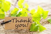 Label with thank you! — Fotografia Stock