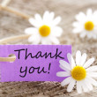 Label with Thank you! — Stock Photo