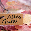 Royalty-Free Stock Photo: Fall label with Alles Gute!