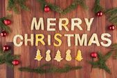 Merry christmas with christmas decoration — Stock Photo