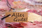 Label with Alles Gute — Stock Photo