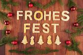 Frohes Fest — Foto Stock