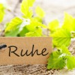 Label with Ruhe — Stock Photo