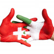 Switzerlands and italy — Stock Photo