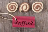 Kaffee on a red label — Stock Photo