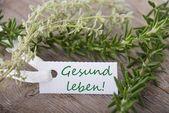 Tag with Gesund leben — Stock Photo