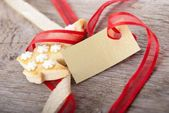 Christmas background with empty label — Stock Photo
