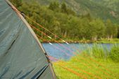 A tent in the nature — Stock Photo