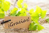 Label With Gracias — Stock Photo